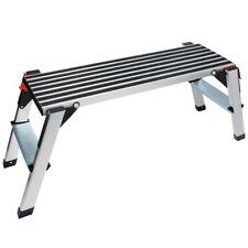 Work Platform Aluminum Folding Step Ladder Drywall Stool Portable Bench Non Slip