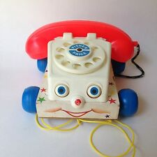 Vintage Fisher Price 1961 Chatter Phone #747 Pull Toy
