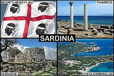 SOUVENIR FRIDGE MAGNET of SARDINIA ITALY