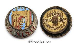 Insigne-Miniature à vis - S.P.E.S. TUNISIE. Drago, Beranger