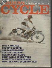 Modern Cycle 1970 December Sac Mile/ Bonneville Speed Week /Yamaha 1971 Bikes