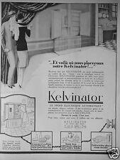 PUBLICITÉ 1927 KELVINATOR LE FROID ÉLECTRIQUE AUTOMATIQUE - ADVERTISING