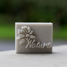 "Handmade Printed pattern Cookie Stamp Seal Soap Stamp Rose with text ""Nature"""