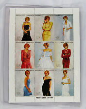 Princess Diana Stamp Set- 9 Royal Gowns + White Chiffon Dress-1997 Togo