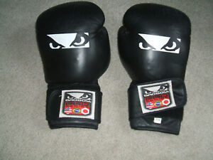 Bad Boy Pro Series Leather Boxing Gloves Black