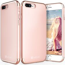 For Apple iPhone 8 7 Plus Chrome Luxury Ultra Thin Slim Hard Shell Case Cover