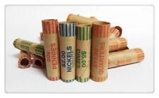 New 72 pcs Preformed Assorted Coin Wrappers Tubes Nickel Quarter Dime Penny