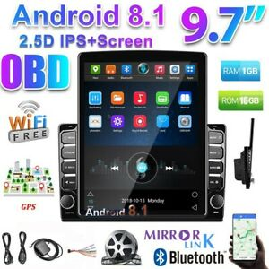 "9.7"" Android 8.1 Double 2 DIN Car Stereo Radio GPS Navi Touch Screen Player APK"