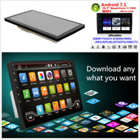 """10.1"""" Android 7.1 Bluetooth 2DIN Car Stereo Radio MP5 Player WiFi GPS Navigation"""