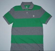 b31805f8 Retro Nike Pinwheel Swoosh Stripe Polo Shirt Mens size Medium Green Grey