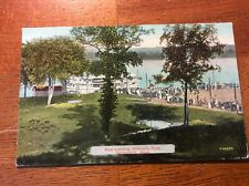 Postcard Springfield, Mass. Boat Landing at Riverside Park.Unposted