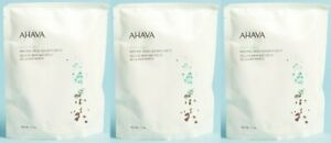 (Pack of 3) AHAVA Deadsea Salt Natural Dead Sea Bath Salts 11 oz - NEW