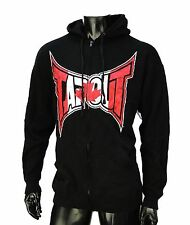 TapOut Ufc Team Cnada Logo Black Zip Up Fleece Mens Hoodie size Large