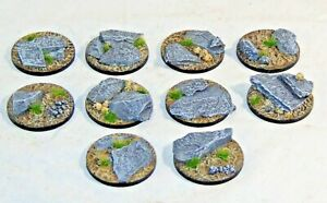 40mm Slate resin bases, Qty 5-25 available, unpainted by Daemonscape