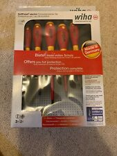 WIHA SOFTFINISH MIXED VDE SCREWDRIVERS 5 PIECE SET TRADESMAN ELECTRICIAN BNIB