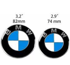 BMW  82MM & 74MM Badge Bonnet Boot Emblem OEM E46 E90 E91 M3 X5 Z3