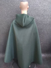 "1/6 Scale Dark Green Cloak With Cap Model FOR 12"" HT DAM Male Body Doll"