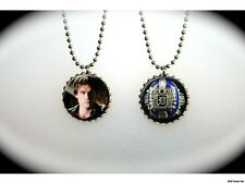 Vampire Diaries ring crest Damon Salvatore  -  2 sided necklace
