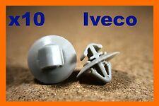 10 Iveco Parachoques Clips Sujetador plástico de moldeo Fender &