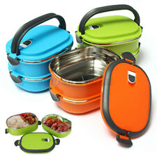 0.9/1.8L Stainless Steel Thermal Insulated Lunch Box Bento Food Picnic Container