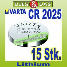 15 Stk. Varta CR 2025 Knopfzelle Knopfbatterie lose