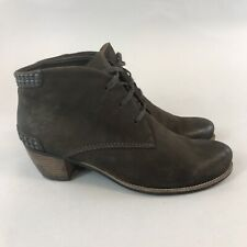 Kennel & Schmenger EU39 UK6 Brown Leather Ankle Lace Up Studded Booties Boots