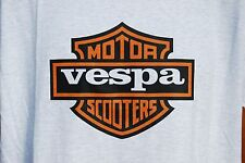 graphic retro art vintage Mens Cotton T Shirt , S,M,L,XL Vespa Motor Scooter