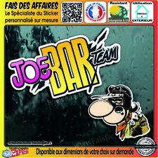 2 Stickers Autocollant adhésif Joe BAR Team decal harley motorcycles custom café