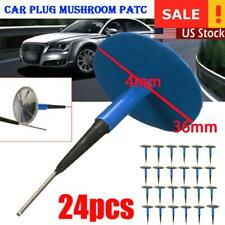 24pcs Auto Car Truck Tire Tyre Puncture Repair Plug Patch Kit 36mm 4mm Mushroom