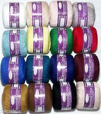 4 x 4ply 50gr balls 100% Mercerised Crochet Cotton Sullivans Knitting 16 Colours