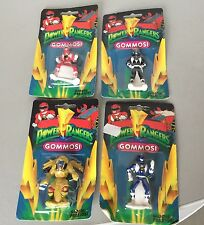Vintage# 4X Mini Figure Rubber Plastic Gommosi Power Rangers#Mosc Full Series