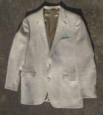 fine mens Hunting Horn Habersham Tweed cream gray  herringbone blazer  size 42 R