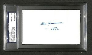 "Alec Guinness ""OBI-WAN KENOBI"" Star Wars SIGNED 3X5 index card PSA GRADE 10"