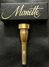 Monette Trumpet Mouthpiece BL Gold Plated Pre Owned