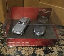 M&S JAMES BOND DB5 & DBS DIE CAST METAL WITH PLASTIC PARTS (NEW IN BOX)