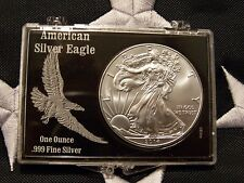 💰 2014 AMERICAN SILVER EAGLE ONE TROY OZ, .999 FINE, IN PROTECTIVE CASE, UNC 💰