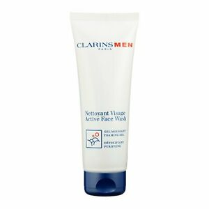 Clarins Men Active Face Wash Foaming Gel-Purifying 125ml Cleanser Toner #18648