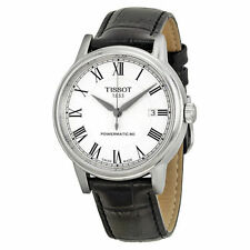 New Tissot T-Classic Carson White Dial Black Leather Mens Watch T0854071601300