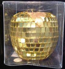 Christbaum Schmuck Apfel gold farben 5 x 6,5 cm Weihnachts Dekoration