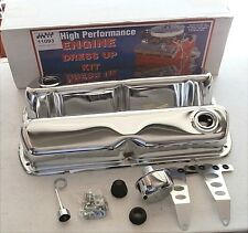 Super Pro Chrome Engine Dress Up Kit Small Block Ford  New