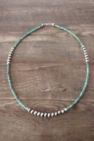 Navajo Indian Jewelry Hand Strung Turquoise Desert Pearl Nugget Necklace!