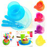 6 Pcs Kids Food Set Plate Bowl Cup Spoon Fork Children Tableware Set NEW