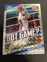 2019-20 Panini Mosaic Got Game Silver Holo Derrick Rose #2 Detroit Pistons