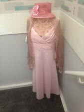 MARKS & SPENCER AUTOGRAPH PINK DRESS NEW SIZE 16 IDEAL FOR A WEDDING