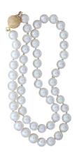 Echte Perlenkette mit Kugelverschluss Gold 750 diamantiert Perlen Collier 45 cm