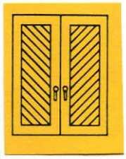 CHURCH DOOR for FLYERVILLE MINI-CRAFT AMERICAN FLYER