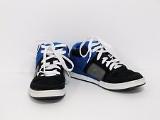 SHAUN WHITE Black Blue Suede Lace Up Shoes Youth Men Boys 7 EUC Free Shipping