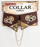 Steampunk Collar w/ Gears and Chains Industrial Victorian Costume Accessory