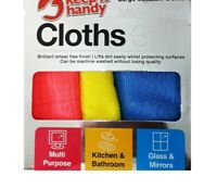 kitchen//bathroom, Multi p,Furniture and wood, Glass MICROFIBRE CLOTHS 4 PACK