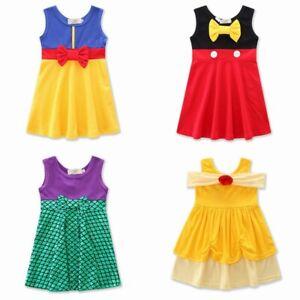 Halloween XAMS Princess Dress BELLE SNOW WHITE Minnie Girl Costume 1-7 Year Gift